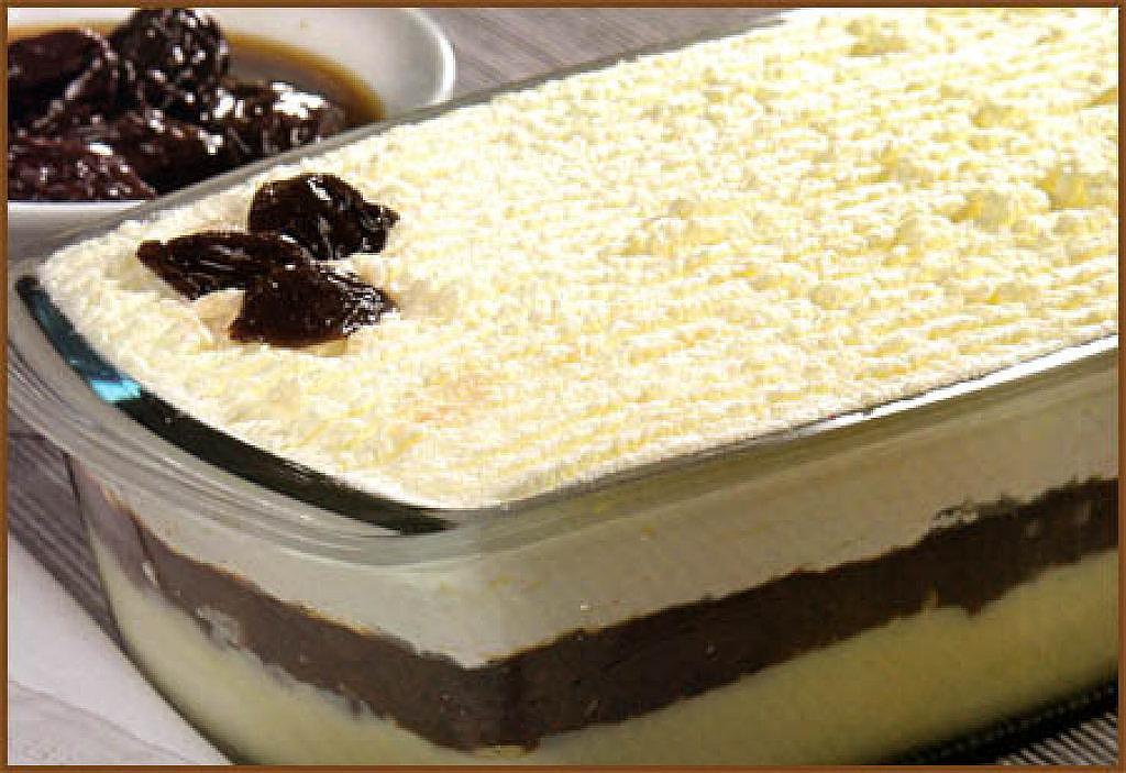 Postre semifr o de vainilla y ciruela cocina casera net - Postres con gelatina y leche condensada ...