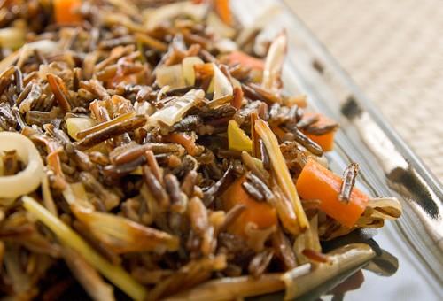 Receta de arroz salteado con verdura